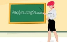chalk,board,manga,woman,redhead,teacher,vector,hot