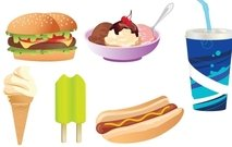 hamburger,hot,dog,ice,cream,popsicle,soda,junk,food,fast