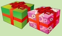 christmas,box,gift,present,misc,object,element,ribbon