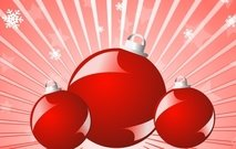 ball,christmas,festival,glossy,red,shiny,snow,flak,star,tree