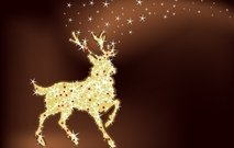 reindeer,deer,horn,animal,tail,star,shining,glitter,light,magic,constellation,christmas,abstract,symbol