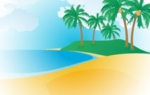 sand,sea,coconut,tree,sun,sky,resort,beach,leaf,cloud,tropical,landscape,veiw