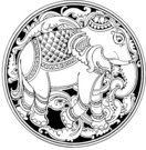 elephant,crest,medal,emblem,logo,animal,stamp