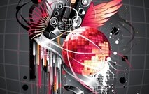 musical,music,theme,speaker,sound,mirror,ball,crystal,swirl,splat,grunge,background,backdrop,element