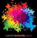 background,butterfly,colorful,dance,splash,grunge