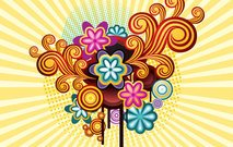 abstract,background,colorful,flower,retro,style,swirl,wallpaper