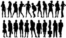 girl,lady,business,shadow,silhouette,people,various