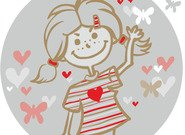 heart,girl,love,shool,school,little girl,child,flying,fly