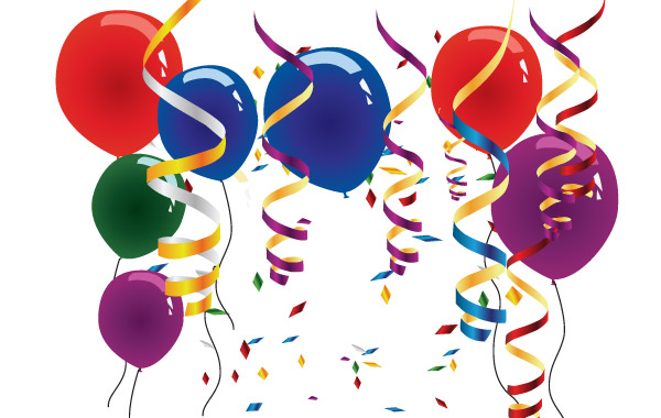 Balloons And Streamers Clip Arts Free Clipart