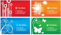 business,card,calling,template,abstract,butterfly,various,color,colorful
