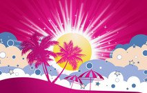 poser,flyer,t-shirt.card,web,banner,site,graphics,sun,summer,umbrella,coconut,cloud,retro,star