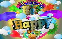 happy,be,star,circle,retro,cloud,sky,heart,love,color,colorful,banner,background,backdrop