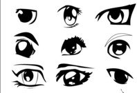 eye,element,anime,animation,cartoon,cartoonish,silhouette