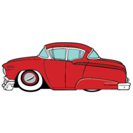 1950s,automobile,car,cartoon,fifties,classic car,retro car,vehicle,lead slead