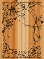 ornament,sketchy,frame,draw,drawn,sketch,hand,floral,lily