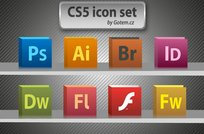 cs5,icon,photoshop,flash,bridge,firework,indesign,adobe,illustrator,firework
