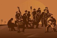 orchesta,tango,argentina,uruguay,candombe,vedette,bandoneon,drum,bass,dancing,orchestra,music,musician,band
