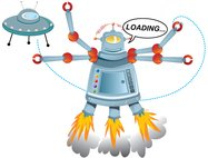 robot,loading,ufo,take off,spaceship,take,off