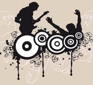 music,silhouette,dj,graphics,speaker,turntable,mixer,vinyl,dance,disco,dancing,lady,scratch,vector,dj,eps,silhouette,lady,speaker