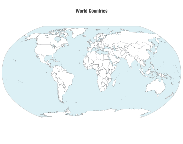 World Countries Map Vector Clipart Graphic | Free clipart image