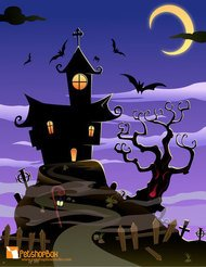 halloween,house,bat,scary,tree,haunted,october,night,horror,scene,spooky,halloween,bat
