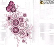 business,business card,logo,card design,graphic design,illustration,designious,halftone,flower,floral,butterfly,free,freebie,vector