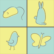 butterfly,mouse,rabbit,bunny,spring,easter,blueshift,bird,animal