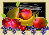 frutas,bodegon,fruit,still life,apple,banana,pear,mango