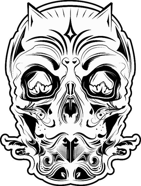 Devil Face Line Drawing : Black and white devil clip art cliparts