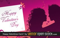 greeting card,valentine,event,couple,lover,silhouette,love,girl,guy,heart