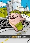 pig,world,hippie,highway,landscape,background,travel,country,building,city,pork,bag,fly,crazy,marihuana,leaf,building