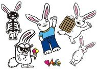 bunny,conill,caràcter,hand drawn