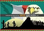 mexican,bird,eagle,flag,cactus,mexico,pyramid,aztec,sand,sun,desert,background,composition,animal,of,prey