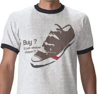 shoe funny,shoe vector,shoe t shirt,window shopper vector