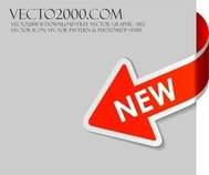 red,arrow,sign,new,new sign,post,banner,template,label,modern