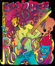 rock,psychedelic,star,woman,art noveau,guitar,poster,demon,fillmore west,art,noveau,fillmore,west,poster