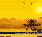 chinese,oriental,asian,sunset,bamboo,landscape,background,mountain