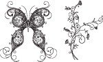 flower,floral,butterfly,nature,decorate,decorative,stylish butterfly,swirl
