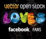 facebook,fan,love,word,colorful,capital,announcement