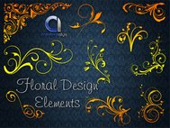 floral design element,vector florals,floral,swirl,element,flower,flora,swirl,design,element