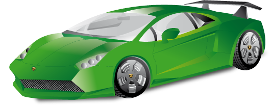 Green Sports Cars Race