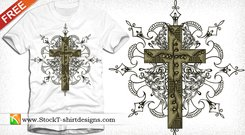 t shirt design,cross,ornament,celtic,floral