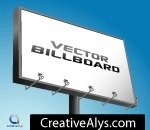 advertising billboard,billboard,vector billboard,sign,board,advertising,advertisement,high,wall