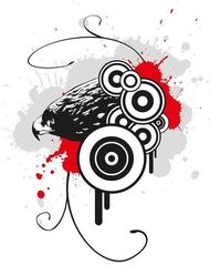 background,eagle,target,bird,wallpaper,animal,paint splat,drip,ink,paint