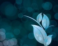 bokeh,abstract,leaf,blue,dark,background,wallpaper,droop