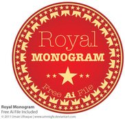 royal,monogram,logo,red,dark,crown,kingdom,seal,crest