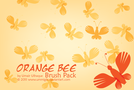 brush,bee,bug,orange,fresh,cool,garden,nature,natural,illustrator brush
