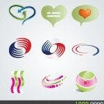 logo,element,heart,love,bubble,exchange,heat,hot,cold,circle,icon,air,conditioning,abstract,movement