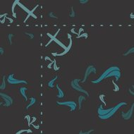 anchor,wave,sea,ocean,ship,teal,gray,pattern