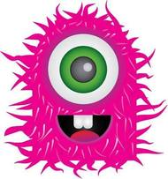 monster,pink,crazy,colorful,scary